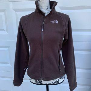 The North Face brown zip up fleece brown jacket